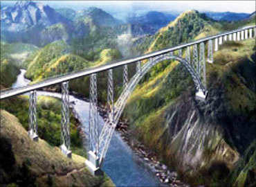 Artist's impression of the Chenab bridge.