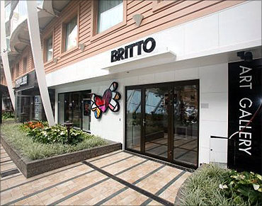 Britto's art gallery.