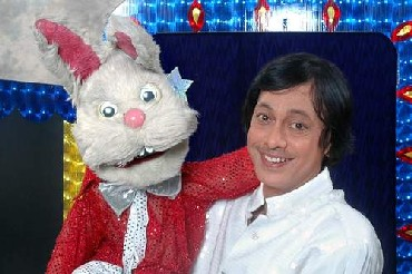 Ramdas with the Lijjat Papad bunny
