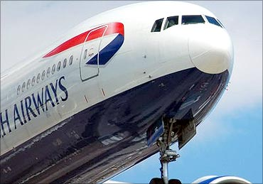 A British Airways aircraft.