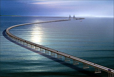 Hangzhou Bay Bridge.