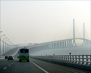 Shanghai Yangtze River Tunnel and Bridge.