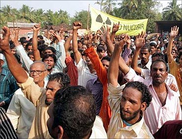Protest againts the Jaitapur nuclear power project.