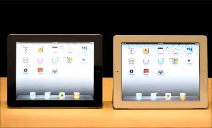The iPad2 is also available in white.