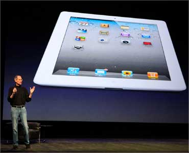 Jobs introduces the iPad 2on March 2, 2011.