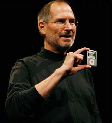 Jobs introduced the iPod Nano in San Francisco, California on Sep 5, 2007.