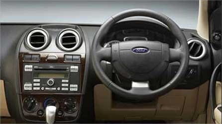The dashboard of Ford Fiesta.