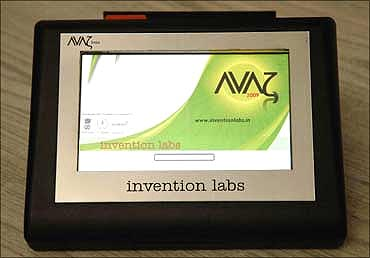 Avaz, a communication system for people with speech disorders.