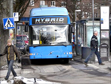 Volvo has delayed launch of its hybrid bus