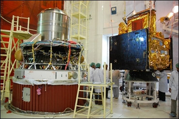 Oceansat 2 before its integration.