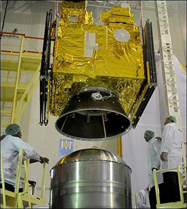 Oceansat-2 integrated PSLVC14.