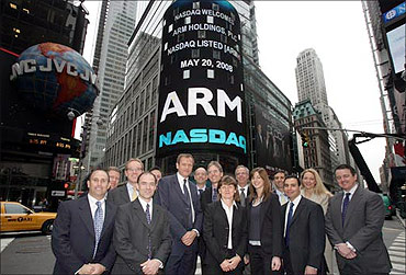 Arm Holding listed on Nasdaq.