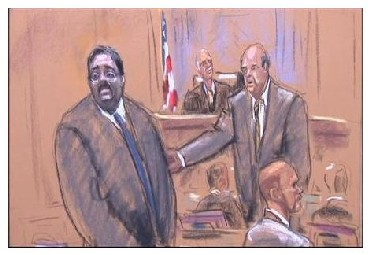 Raj Rajaratnam is seen during his trial in New York in this artist sketch