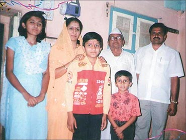 Hemachandra with his family.