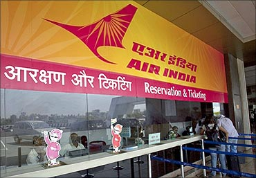 Air India's ticketing counter.