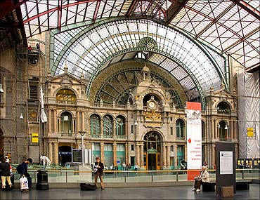 Antwerp Central Station.