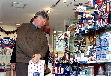 Former US President Bill Clinton at the Made in America store at the Union Station.