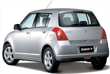 Rear view of Swift.