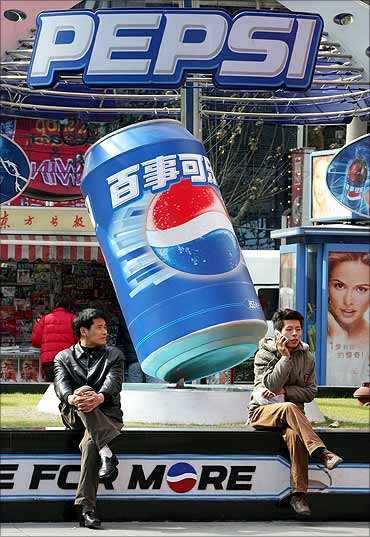 A Pepsi advertisement in Shanghai.