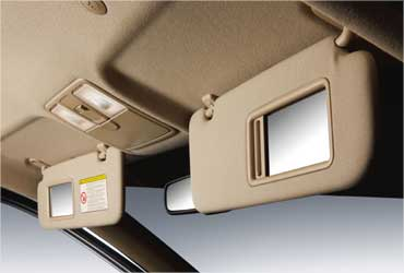 Sunvisor with mirror.