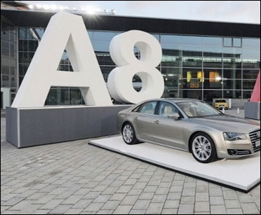 Audi car on display.
