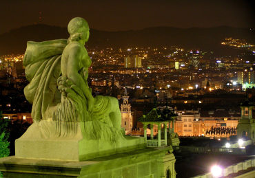Spain is looking at tough economic times. A statue overlooking Barcelona, Spain.