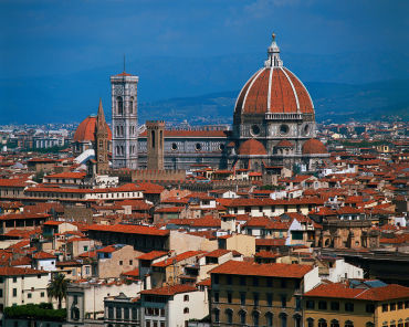 Italian economy can go under. A view of Florence, Italy.