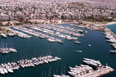 Greece's economy is in choppy waters. A view of Marina in Phaliron, near Athens.