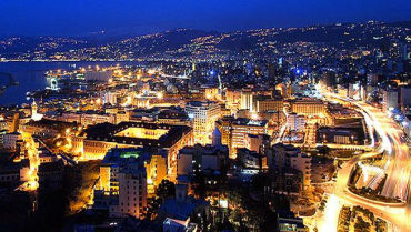 It's a steep ride for Lebanon. Beirut at night.