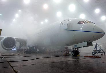 Boeing 787 Dreamliner undergoes extreme weather testing.