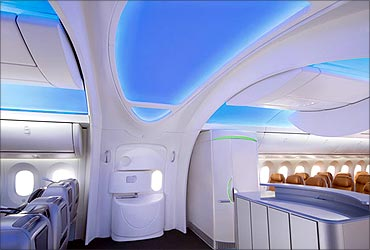 787 Dreamliner's interiors.