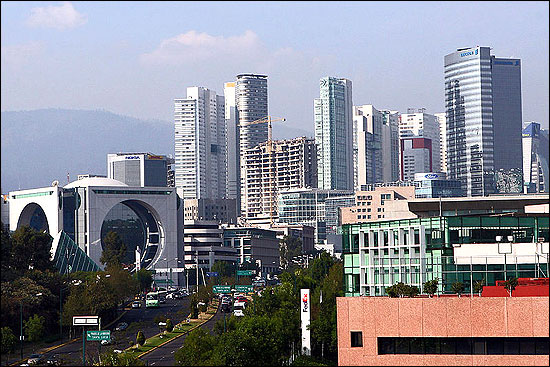 Santa Fe business district in Mexico City.