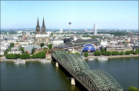 Panorama of Cologne.