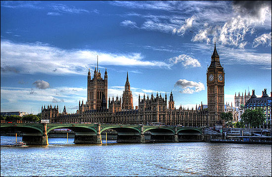 The Palace of Westminster, seat of both houses of the Parliament of the United Kingdom.