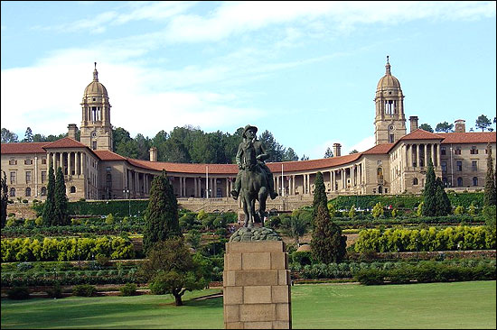 The Union Buildings in Pretoria, seat of the executive.
