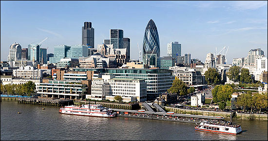 London is one of the largest financial centres in the world.