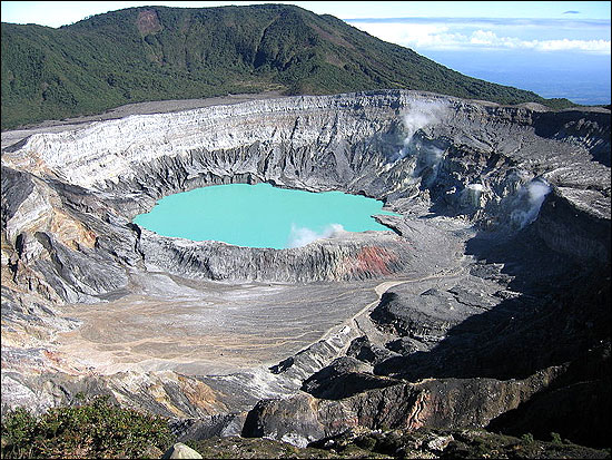 Poas Volcano Crater is one of the country's main tourist attractions.