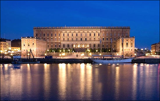 Stockholm Palace, the official seat of the Swedish King.