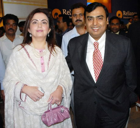 Reliance Industries chairman Mukesh Ambani and his wife Neeta were present for the swearing-in ceremony of Prime Minister Narendra Modi.