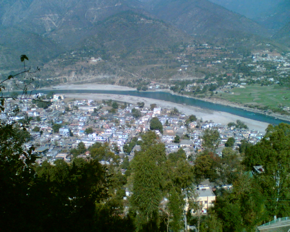 A panaromic view of Uttrakhand.