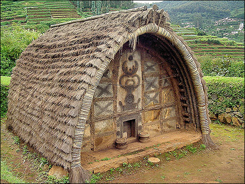 There are a few Toda huts on the hills above Botanical Garden, Ooty.