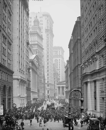 Amazing and historical photos of New York's financial district