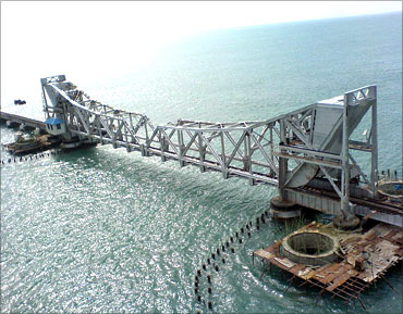 Pamban Bridge.