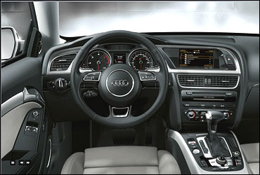 Interior view of Audi A5.