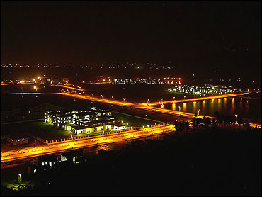 Night view of IIT Guwahati.