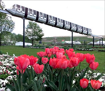 Monorail train, Germany.