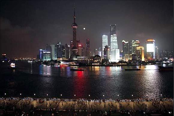 Financial area of Pudong in Shanghai.