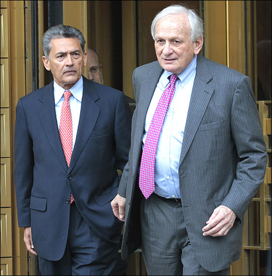Gupta with his lawyer Gary Naftalis.