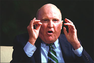 Jack Welch speaks during the Global Business Forum.
