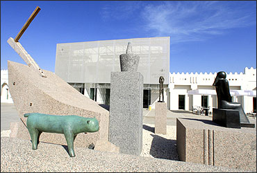 An exterior view of the Mathaf: Arab Museum of Modern Art in Doha.
